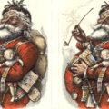 La prima volta di Babbo Natale in rosso